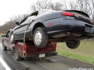 Aussie way to transport a car