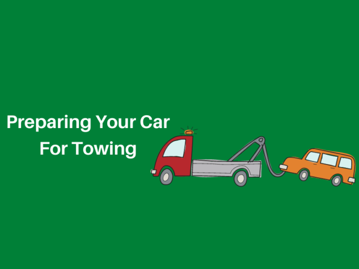 preparing your car for towing