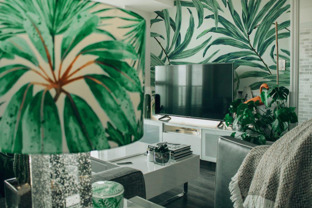 tropical vintage interior